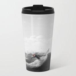 surf santa - power slide Metal Travel Mug