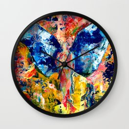 Butterfly 1, Acrylic On Canvas, Chase Medved Wall Clock