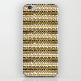 Yellow and Black Abstract Drawn Cryptic Symbols iPhone Skin