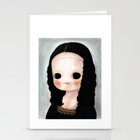 mona lisa Stationery Cards featuring Mona Lisa by Evangelione