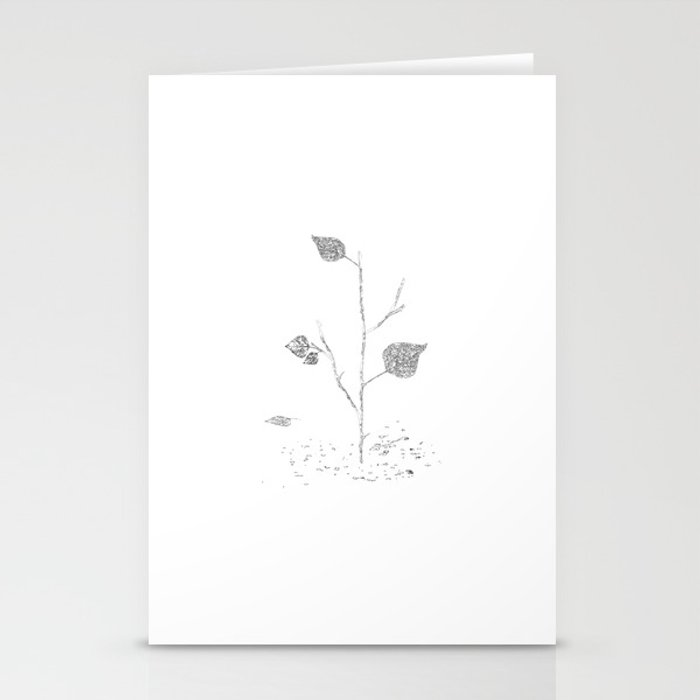 Fall...ing in silence Stationery Cards