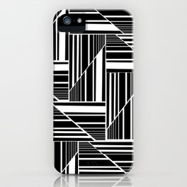 STRIPED PATCHWORK iPhone Case