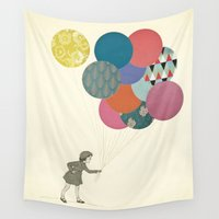 party Wall Tapestries featuring Party Girl by Cassia Beck