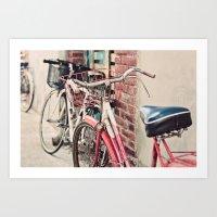 bicycles Art Prints featuring Bicycles by Yolanda Méndez