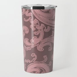 Retro Chic Swirl Bridal Rose Travel Mug