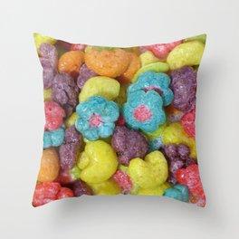 Fruity Cereal Throw Pillow