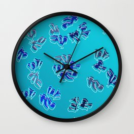 Nebel & Blau Wall Clock