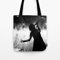hayley williams Tote Bags featuring Hayley Williams #2 by Ethan Luck