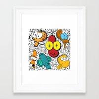cartoon Framed Art Prints featuring Cartoon by John's Michelle