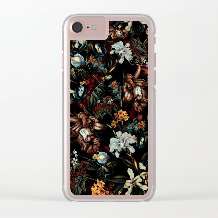 Fall Garden Clear iPhone Case