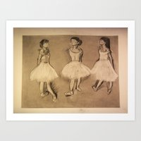 degas Art Prints featuring Degas Master Copy by Miss Baker