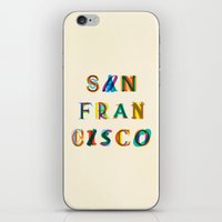 san francisco iPhone & iPod Skins featuring San Francisco by Fimbis