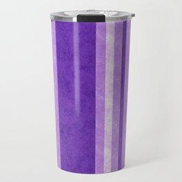 Retro Vintage Lilac Grunge Stripes Travel Mug