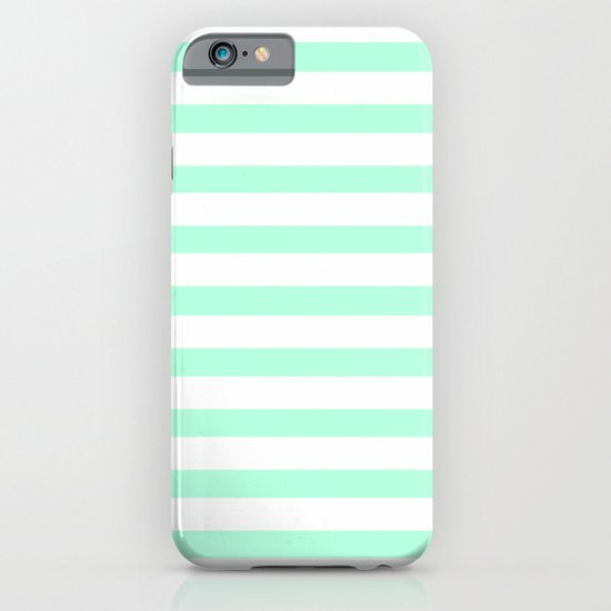 MINT STRIPES iPhone & iPod Case