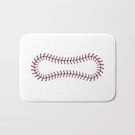 Baseball Lace Background Bath Mat