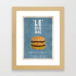 PULP FICTION - le big mac Framed Art Print