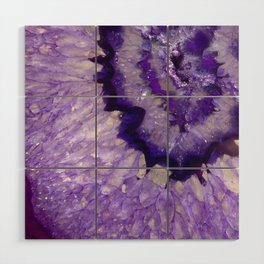 Purple Crystal Wood Wall Art