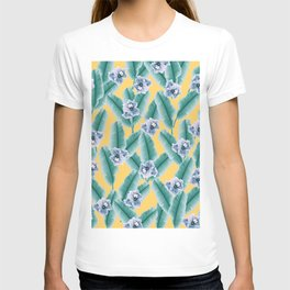 Tropical Banana Leaves Flower Jungle #2 #tropical #decor #art #society6 T-shirt