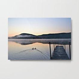 Love Ducks at Dawn on Lake George Metal Print