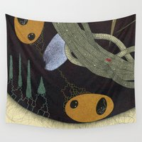 medicine Wall Tapestries featuring take your medicine by thefleafarm (Amy Wright)