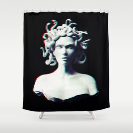 Medusa glitch Shower Curtain