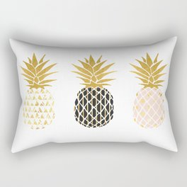 fun pineapple design gold Rectangular Pillow