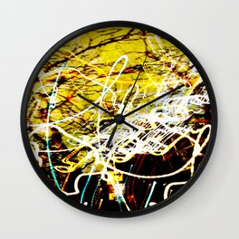 Chaos Tree - Light Painting Wall Clock