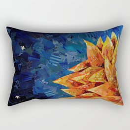 Star Bloom Collage Rectangular Pillow