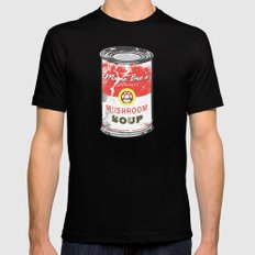 Mario Bro's Mushroom soup LARGE Black Mens Fitted Tee