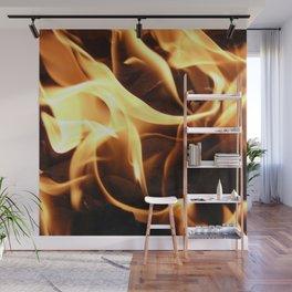 Licking Flames Wall Mural