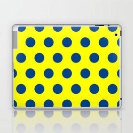 maize and blue polka dots Laptop & iPad Skin