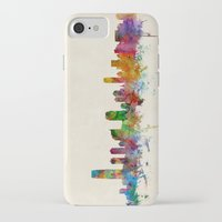 new jersey iPhone & iPod Cases featuring Jersey City New Jersey Skyline by artPause