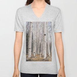 Tall Birch Forest Unisex V-Neck
