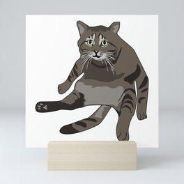 Luther the Cat Mini Art Print