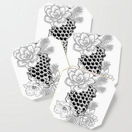 Succulents & Honeycomb Coaster