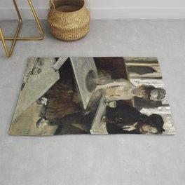 The Absinthe Drinker by Edgar Degas Rug