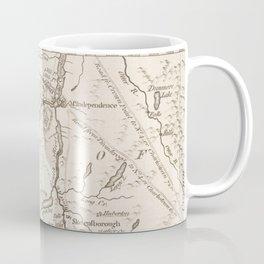 Vintage British Map of Lake George Area Coffee Mug