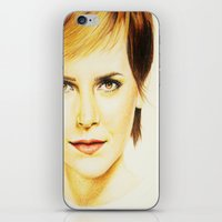 emma watson iPhone & iPod Skins featuring Cropped Emma Watson by Taylor Hayes