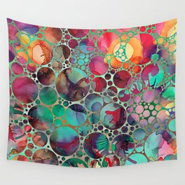 Dots on Painted Background 6 Wall Tapestry