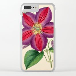 Smith, Worthington G. (1835-1917) - The Floral Magazine 1869 - Clematis Magnifica Clear iPhone Case