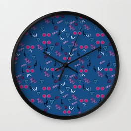 Hipsterish glassses Wall Clock
