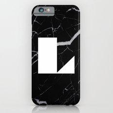 Black Marble - Alphabet L Slim Case iPhone 6s