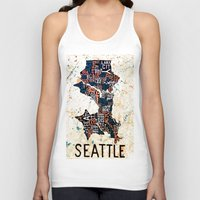 seattle Tank Tops featuring Seattle by Artful Schemes