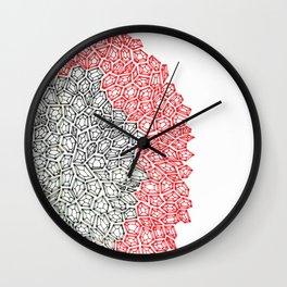 Hand Drawn Gems Wall Clock