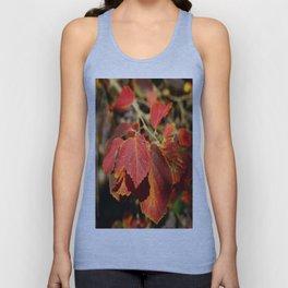 Colorful Autumn Leafes Unisex Tank Top