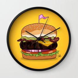 Bacon Cheeseburger Wall Clock