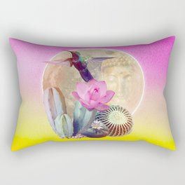 "Entheogen Meskalin Spirit - Lophophora ""Peyote"" Williamsii Rectangular Pillow"