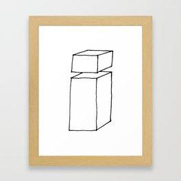 3D letter i Framed Art Print