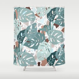 Leaves+Terrazzo°° Shower Curtain