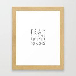 team strong female protagonist white Framed Art Print